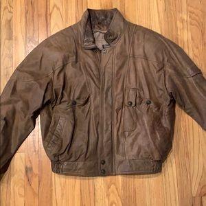 Adventure Bound Thinsulate Leather Bomber Jacket